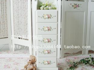 简约家居饰品 田园风格彩绘床头柜 五屉柜 装饰柜 玄关柜 五斗柜,衣柜,