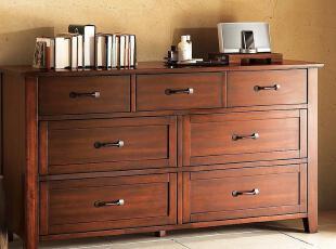 PotteryBarn实木7斗柜定制全实木环保家具定做 CP-PBSN-DG-P02,衣柜,