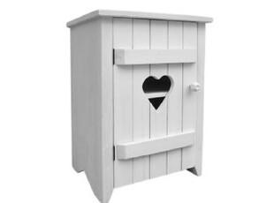 特价 BAO ZAKKA 日单 心形 旧木 水洗白 2层收纳柜 床头柜 WJ58,衣柜,