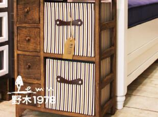 实木+二抽布艺床头柜/收纳柜/储物柜/古典柜子【6-8天发】,衣柜,