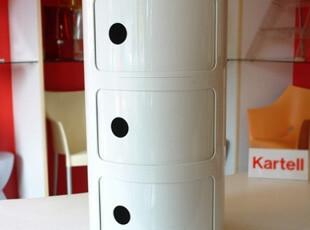 意大利Kartell Componibili 床头柜/储物柜/收纳柜 白色三门 K496,衣柜,