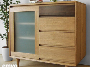 emvo 日式家具 北欧风格 水曲柳/木质 储物柜YC-71 收纳柜/斗柜,衣柜,