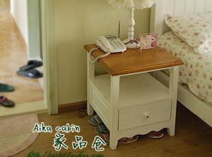 美式乡村 比邻乡村风格床头柜 实木床头柜 可定制 美克美家床头柜,衣柜,