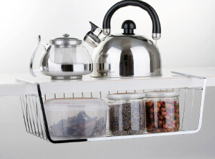 三件包邮 衣柜下挂篮冰箱挂架 拉篮厨房收纳筐 橱柜碗架置物架子,衣柜,