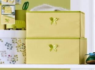 兰亭元景 环保衣柜收纳盒 衣物收纳杂志零食收纳盒 绿色 大号单只,衣柜,