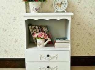 简约抽屉柜 白色床头柜 实木床边柜 韩式储物柜 田园家具 631021,衣柜,