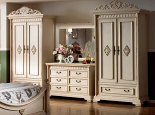 欧式家具 美式家具 韩式家具 复古实木家具 白色 衣柜衣橱,衣柜,