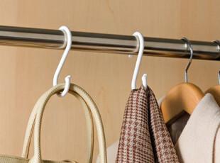 日本原装进口挂钩 S挂钩 衣物挂钩 衣柜挂钩 包包挂钩 4个装,衣柜,