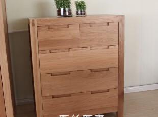 出口家具 柜 实木五斗柜 斗柜 储物柜 衣柜 实木家具 白橡木 柞木,衣柜,