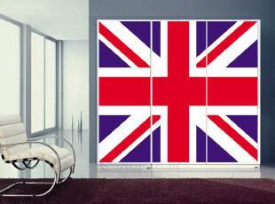 米字旗◆衣柜贴 橱柜贴 防水移门贴纸 玻璃贴 家具翻新贴 101104,衣柜,