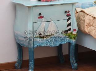 春韵924 海洋底色 二斗床头柜 角几 地中海复古家具,衣柜,