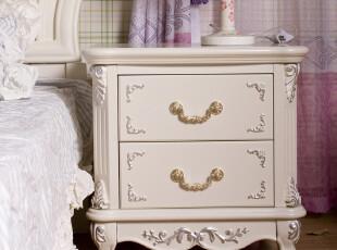 摩登田园家具 宜家床头柜收纳柜储物柜 简易实木 田园床头柜910,衣柜,