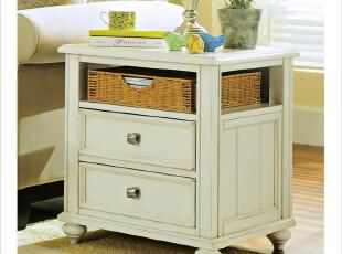 艾米尼奥家具地中海家卧室床头柜可边角做旧边几收纳柜 Y0173,衣柜,