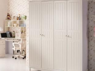唯美 韩式家具 田园衣柜 橱柜  实木衣橱 1.72M四门衣柜 特价包邮,衣柜,
