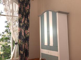 鹏升家具 欧式做旧 地中海家具 卡布奇诺色 实木双门衣柜 预定,衣柜,