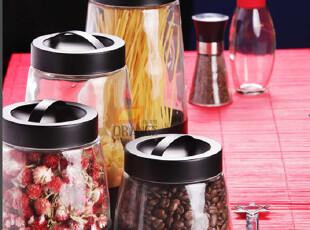 手提盖 密封罐玻璃罐超大号套装 收纳罐厨房用品宜家调味瓶储物罐,调味罐,