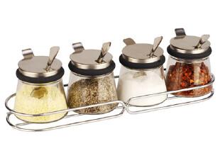 【N838500201】居元素 调料罐 套装 调料瓶5件套 调料调味盒+勺子,调味罐,