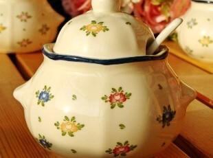 ZAKKA杂货日式乡村田园碎花陶瓷调味罐储物罐(配送勺子),调味罐,