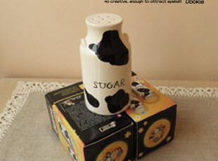 外贸餐具陶瓷 创意牛奶糖罐 调味罐 生日礼物 Lomo牛甜甜,调味罐,