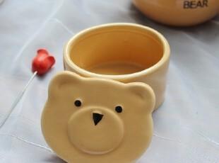 【A grass特价】外贸陶瓷可爱卡通小熊收纳罐!!,调味罐,