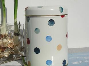 波点铁皮茶叶罐/储物罐/咖啡罐饼干桶铁皮茶叶盒零食罐,调味罐,