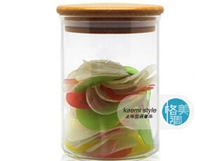 高硼硅耐热 环保玻璃 实木盖保鲜透明/储物瓶罐/玻璃罐/密封罐,调味罐,