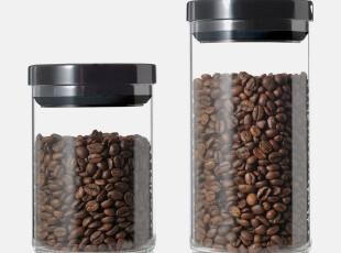 YAMI亚米 玻璃密封罐 储豆罐 茶叶罐 咖啡储物密封罐 防潮设计!,调味罐,