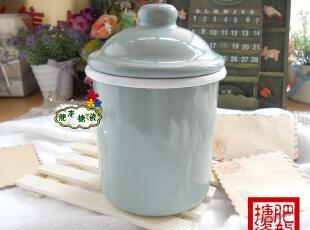 三皇冠 外销日本 特价 OLDE 三色全搪瓷卷边700ML密封罐调味罐,调味罐,