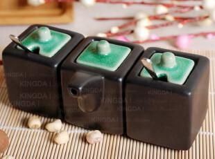 特惠 外贸陶瓷餐具 出口日本 别致调味瓶 酱油 醋壶 3件套 辣椒盅,调味罐,