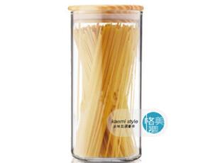 实木盖 保鲜透明/储物瓶罐/玻璃罐/密封罐 高硼硅耐热环保玻璃,调味罐,