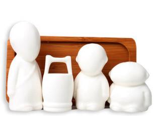 三个和尚挑水喝陶瓷调味瓶 牙签盒 厨房用品 创意调味罐 新品包邮,调味罐,