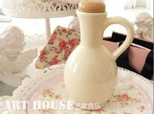出口欧美复古纯色油壶 陶瓷 油壶 调味瓶 酱油醋瓶 调料瓶 香油瓶,调味罐,