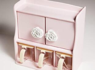 『韩国网站代购』唯美玫瑰甜蜜粉红调料盒,调味罐,