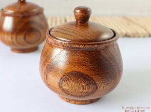 新款 木餐具 餐桌实木调味罐 小号调味瓶 田园和风佐料盒 作料罐,调味罐,