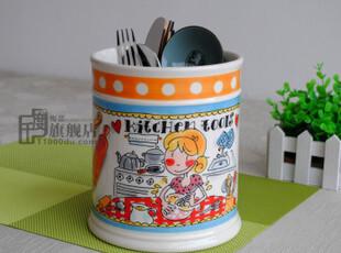 瑕疵blond工具罐|厨房用具收纳罐|储物罐|笔筒|外贸陶瓷|出口尾货,调味罐,