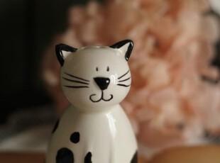 微笑的猫咪。调味瓶。,调味罐,