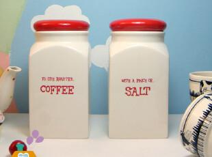 zakka 原单陶瓷储物罐/密封罐/零食罐(2款入),调味罐,