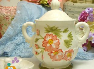 储物罐 陶瓷 欧式手绘宫廷复古风陶瓷储物罐/糖罐/装饰罐,调味罐,
