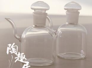 【玻璃产品】玻璃细嘴酱油壶/奶盅/调味罐瓶 日本原单尾货 CF-023,调味罐,