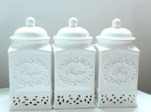 调味瓶 3件套 陶瓷调味瓶/创意厨房用具/厨房用品,调味罐,