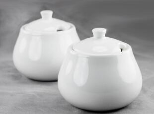 出口外贸 镁质陶瓷 餐具 盐瓶 调料罐|酱瓶 调味罐|砂糖罐子 萤白,调味罐,
