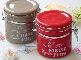 出口欧美余单  陶瓷厨具 密封罐 糖罐 茶叶罐 罐子 带硅胶密封圈,调味罐,