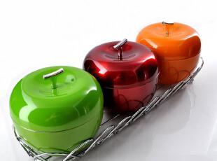 煌鹰 加厚苹果调料盒 调味罐 调味瓶套装 调料罐 四件套 调料瓶,调味罐,