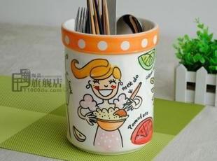 微疵blond工具罐|罐子|储物罐|笔筒|外贸手绘陶瓷|出口原单尾货,调味罐,
