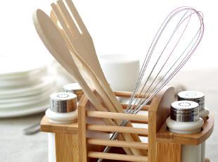 【北欧宜家现代简约料】北村穗纯白陶瓷日式调味瓶9件套装 筷子盒,调味罐,