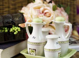特价欧式 陶瓷调味瓶罐五件套 宜家调料罐 油醋瓶 油壶防漏,调味罐,