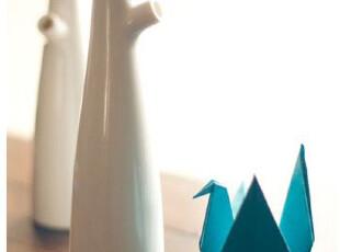 快乐的树陶瓷酱油瓶 软木塞调味瓶两只装,调味罐,
