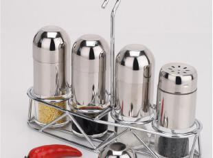 欧式不锈钢调味罐 调味瓶套装 调料盒 糖盐罐 酱油瓶 粉筒 可挂墙,调味罐,