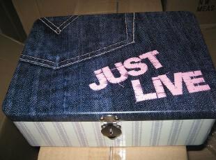 套装金属带锁收纳箱储物箱私人物品收纳盒铁皮盒03,铁盒,
