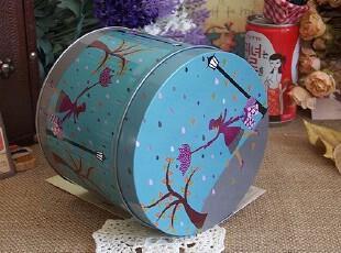 秋日邂逅 铁皮盒圆形铁皮盒子收纳铁罐 超强密封性,铁盒,